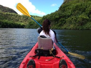 Kayaking in action.
