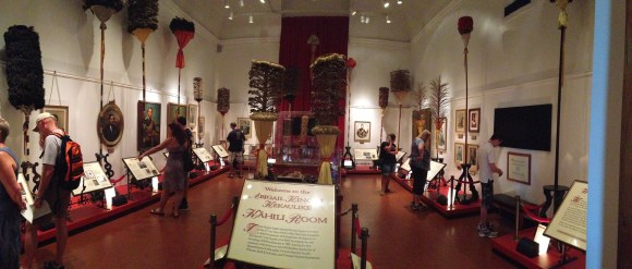 This room had the kings and queens of Hawaii in chronological order. There was information on each ruler and their government. Super interesting.