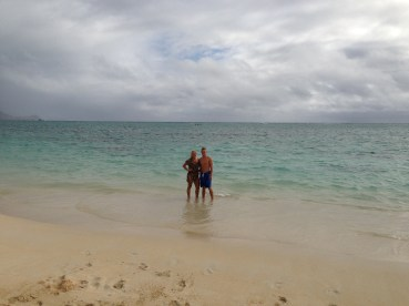 Lani Kai beach the first day....first of many beach trips for them.