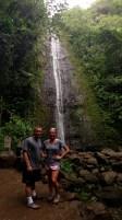 Bailey and Kyle at Manoa Falls.