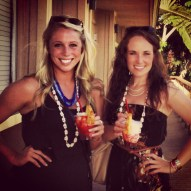 Bailey and I with our lava flows.