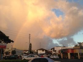 A rainbow over Rainbow Drive-In!
