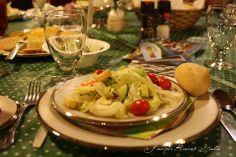 Settings and salad