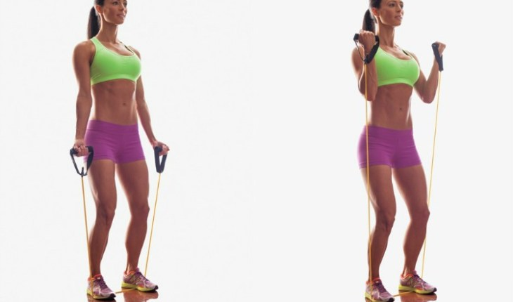 Curls With Resistance Band