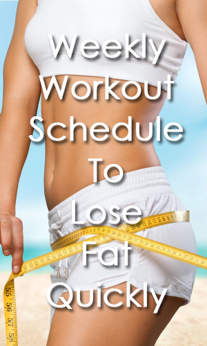 Weekly Workout Schedule To Lose Fat Quickly Share