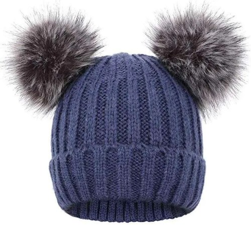 Arctic Paw Cable Knit Beanie with Faux Fur Pompom Earsa