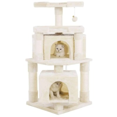 best cat gifts, Cat Tree Condo with Sisal Scratching Posts