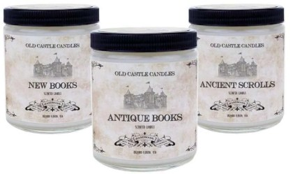 gifts for book lovers, Library Book Candles Set