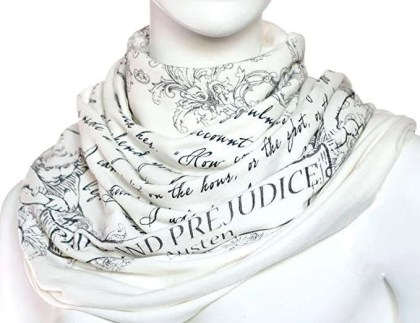 gifts for book lovers, Literary Book Scarf