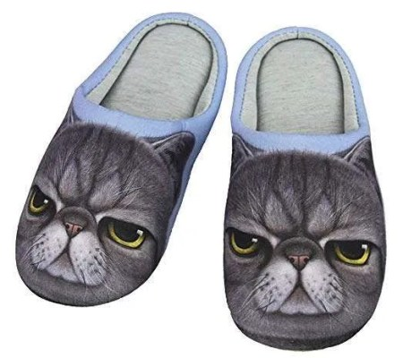 inexpensive gifts for cat lovers, Indoor Cartoon Slippers