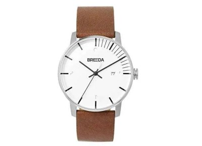 BREDA Stainless Steel with Italian Leather Strap Watch, valentine's day gift for boyfriend