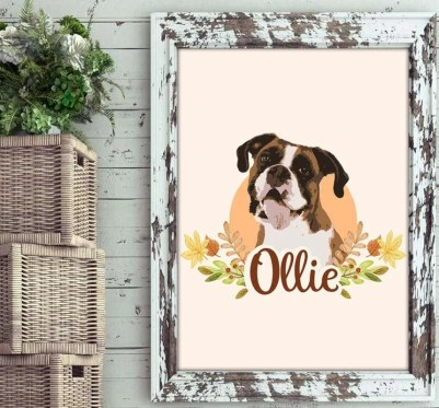 Custom Pet Portraits, gifts for dog lovers