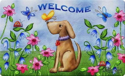 Decorative Puppy Floor Mat, gifts for dog lovers
