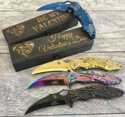 Dragon Design Cool Pocket Knife, valentines day gift for boyfriend