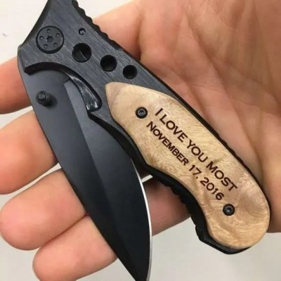 Engraved Pocket Knife, valentines day gift for boyfriend