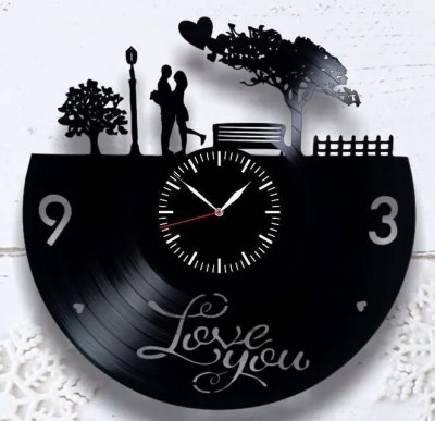 Vinyl Record Wall Clock, valentines day gift for husband