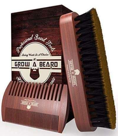 Beard Brush & Comb Set for Men's Care