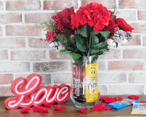 Chocolate Bar Gift Vase, valentine's day gift
