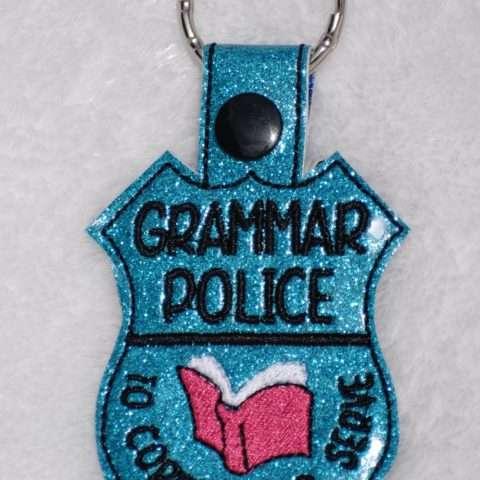 Grammar Police Key Fob