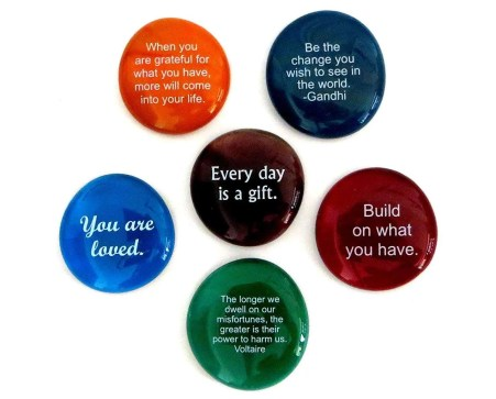 Lifeforce Glass Encouragement Stones, motivational gifts