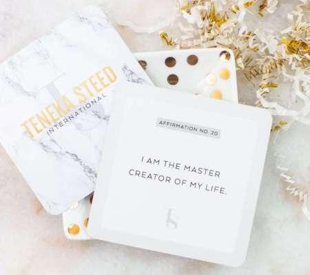 Manifest Your Vision Affirmation Cards, motivational gifts