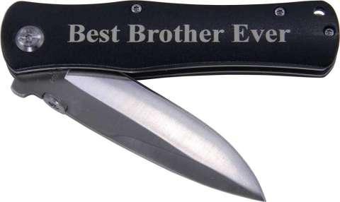 Best Brother Ever Folding Pocket Knife