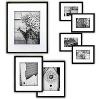Gallery Perfect 7 Piece Black Photo Frame
