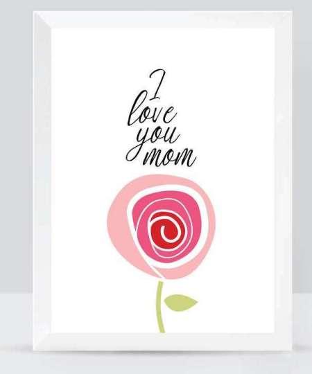 I Love You Mom Art