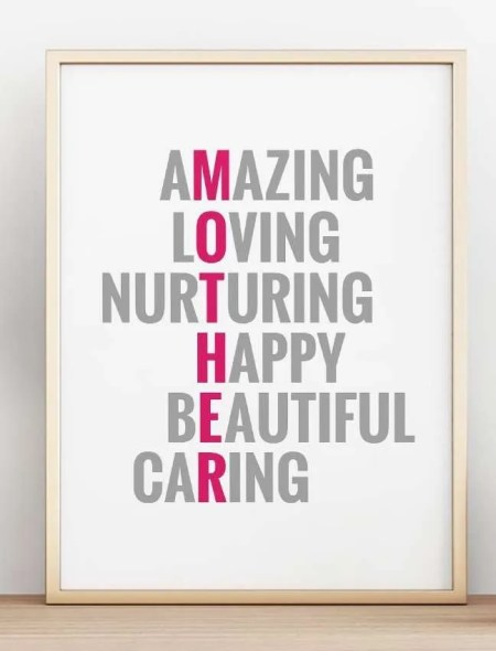 Mother's Day Inspirational Poster