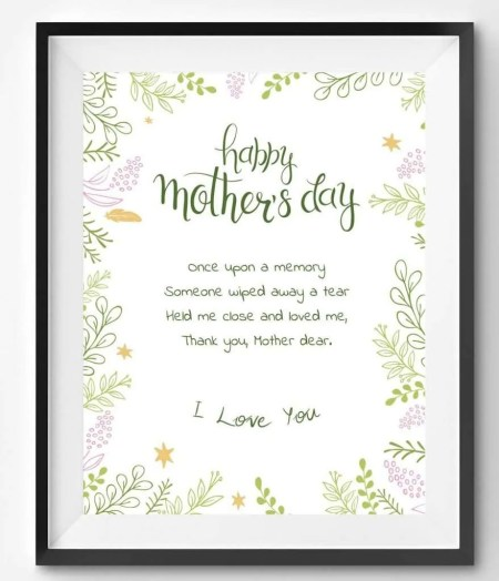 Mother's Day Poem Printable
