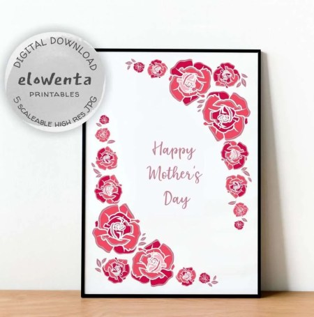 Mother's Day Rose Printable