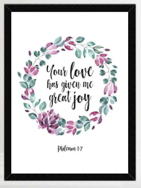 Philemon 1-7 Bible Verse Print