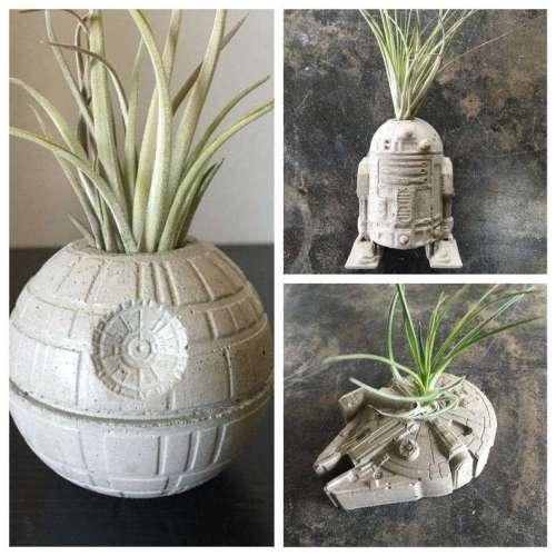Star Wars Concrete Planters Set