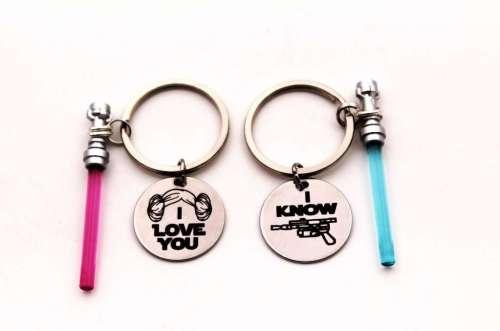 Star Wars Light Saber Couples Key Chain