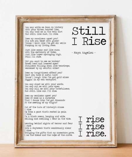 Still I Rise Maya Angelou Poem