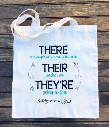There, They're, Their Tote Bag