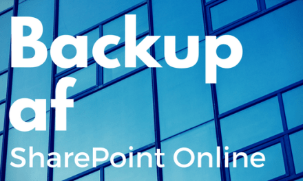 SharePoint Online backup