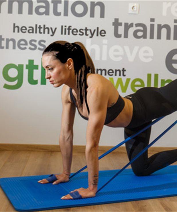 Ασκήσεις με λάστιχο γυμναστικής