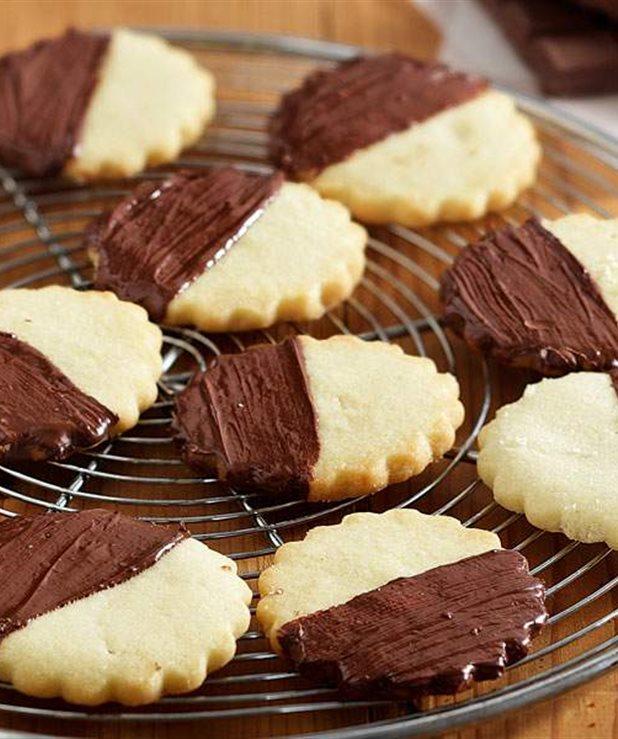 Μπισκότα shortbread με σοκολάτα