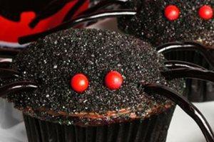 Muffins - αράχνες για το Halloween!