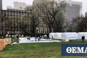 Κορωνοϊός - Νέα Υόρκη: Στήνουν μονάδες επειγόντων στο Central Park (φωτο)