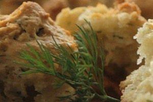 Ψωμάκια με ξινόγαλο και άνηθο