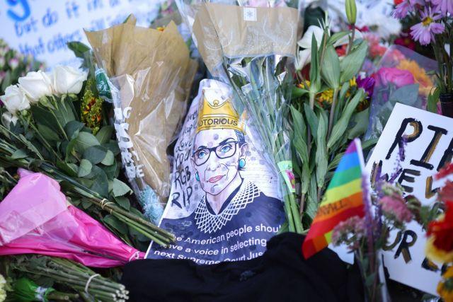 Οι ΗΠΑ αποχαιρετούν  τη Ρουθ Μπέιντερ Γκίνσμπεργκ