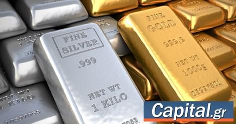 Σε χαμηλό 2 μηνών έκλεισε ο χρυσός - 'Βουτιά' 15% για το ασήμι