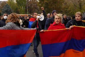 Αρμενία : Αντικυβερνητική διαδήλωση στο Γερεβάν  κατά της εκεχειρίας