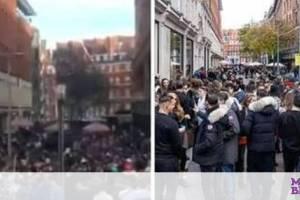 Λονδίνο – Κορονοϊός:Χαμός από κόσμο έξω από τα Harrods - Κοσμοσυρροή στο κατάστημα