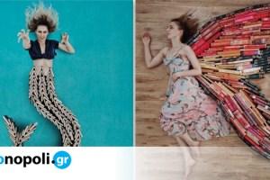 Νεαρή influencer μετατρέπει τη συλλογή βιβλίων της σε έργα τέχνης - Monopoli.gr