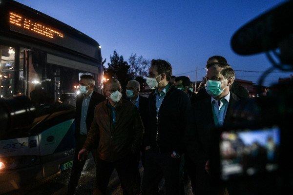 Στους δρόμους τα πρώτα λεωφορεία με leasing-Στο αμαξοστάσιο της ΟΣΥ ο Μητσοτάκης