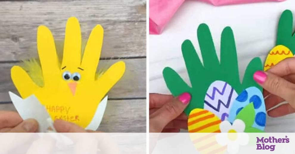 Χειροτεχνίες για παιδιά: Φτιάξτε πασχαλινές κάρτες με την παλάμη του χεριού