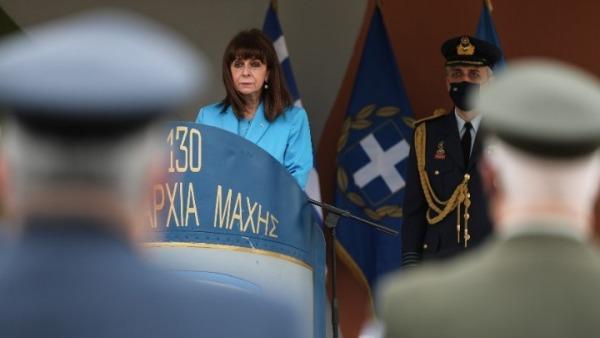 Κ. Σακελλαροπούλου από τη Λήμνο: Δεν απειλούμε κανέναν, αλλά και δεν δεχόμαστε απαράδεκτες διεκδικήσεις